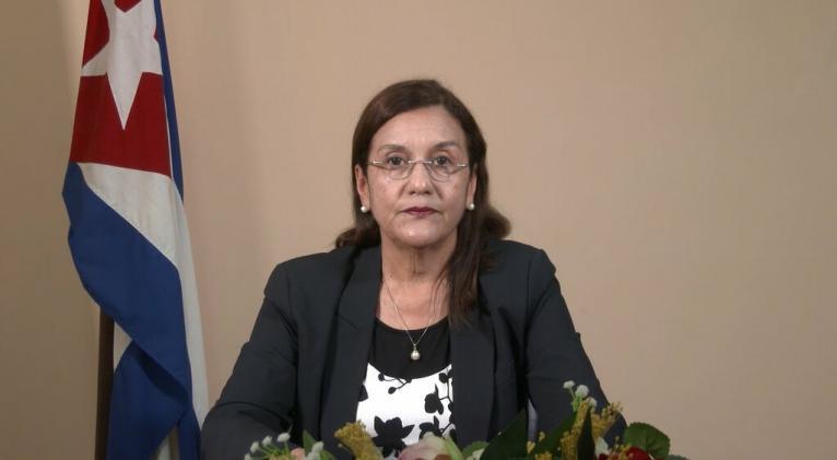 ministra_de_ciencia_tecnologia_y_medio_ambiente_de_cuba_elba_rosa_perez_montoya