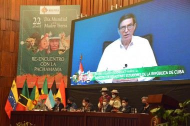 Exhorta canciller cubano a trabajar unidos frente al cambio climático